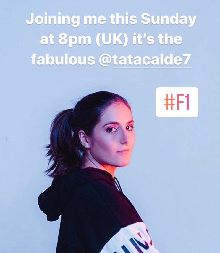 👀 Look who's joining me this weekend for a chat... head over to Instagram Sunday at 8pm, just after the virtual #F1 race, as @TataCalde and I have a chat about lockdown, racing and much more... 🇨🇴 https://t.co/qpEfR2wdJk