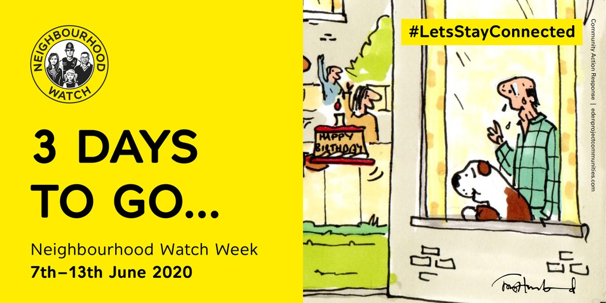 Only 3 days till Neighbourhood Watch Week. Find out more details: bit.ly/2AjQHHa #LetsStayConnected