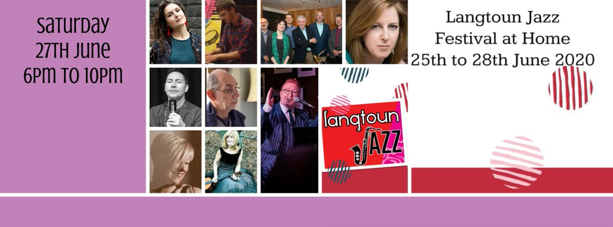 Langtoun Jazz Festival at Home Saturday Night Programme. Looking good!! Join us on 27th June from 6pm to 10pm approx Facebook http://www.facebook.com/langtounjazz Youtube https://m.youtube.com/channel/UCvR3f46IXR7dFTchDsl8ssg… #festival #Jazz #music #TogetherAtHomepic.twitter.com/CCoDFpyxzm
