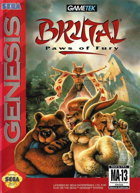Release the wild side of fighting and play as various animals in versus matches in Brutal Paws of Fury  #sega #games #segagenesis #fun #versus