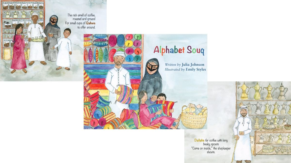 Alphabet Souq is an alphabetic journey to collect items from A to Z, introducing children to the alphabet with pictures and words to aid recall when learning the alphabet for the first time.  Fast #UAE delivery: https://t.co/AJ3bresjgg #internationalcoffeeday #ChildrensBooks https://t.co/yxrinzkwQp