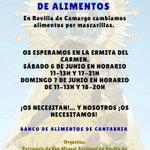 Image for the Tweet beginning: Recogidas solidarias de alimentos este