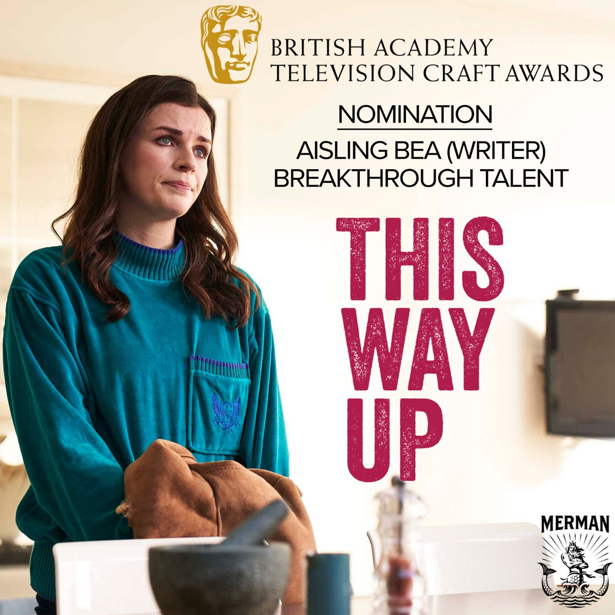 Aisling Bea (@WeeMissBea) has been nominated for the Breakthrough Talent Award for her work as the writer of This Way Up in the 2020 BAFTA Television Craft Awards (@BAFTA). https://t.co/gaREJSHD2c