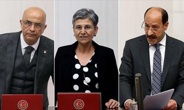 Three opposition deputies stripped of MP statuses in Turkey duvarenglish.com/politics/2020/…