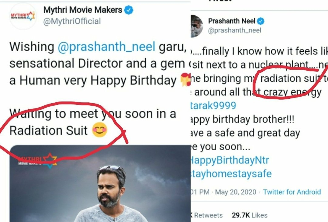 @prashanth_neel @MythriOfficial Here is the common thing abt #NTR31 🔥 Radiation Suit 🔥 #PrashanthNeel & #JnrNTR Combo Movie!! #HBDPrashanthNeel https://t.co/lcVo0pC10t