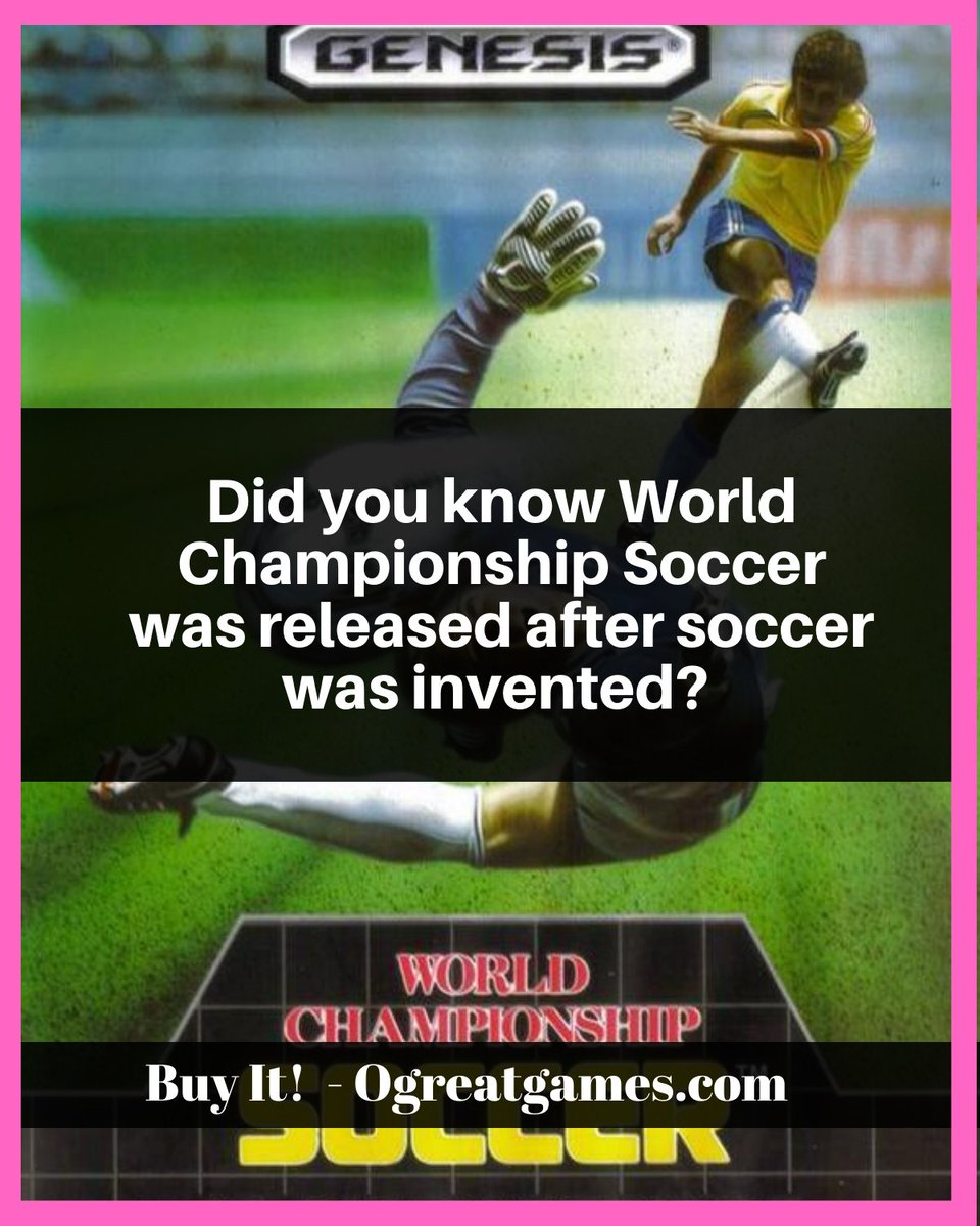 Did you know World Championship Soccer was released after soccer was invented?  #retro #games #videogames #soccer #sega