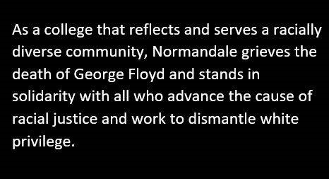 Read @DrJoyceEster message to students earlier this week, that included links to community and @normandale_cc resources. https://tinyurl.com/yc86r28y #endracism #equityineducation #GeorgeFloydpic.twitter.com/Y2Y9vWjDxJ