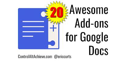 20 Awesome Add-ons for Google Docs https://t.co/wWoFLFiEsZ #GSuiteEDU #ControlAltAchieve https://t.co/XzBA7JuTwZ