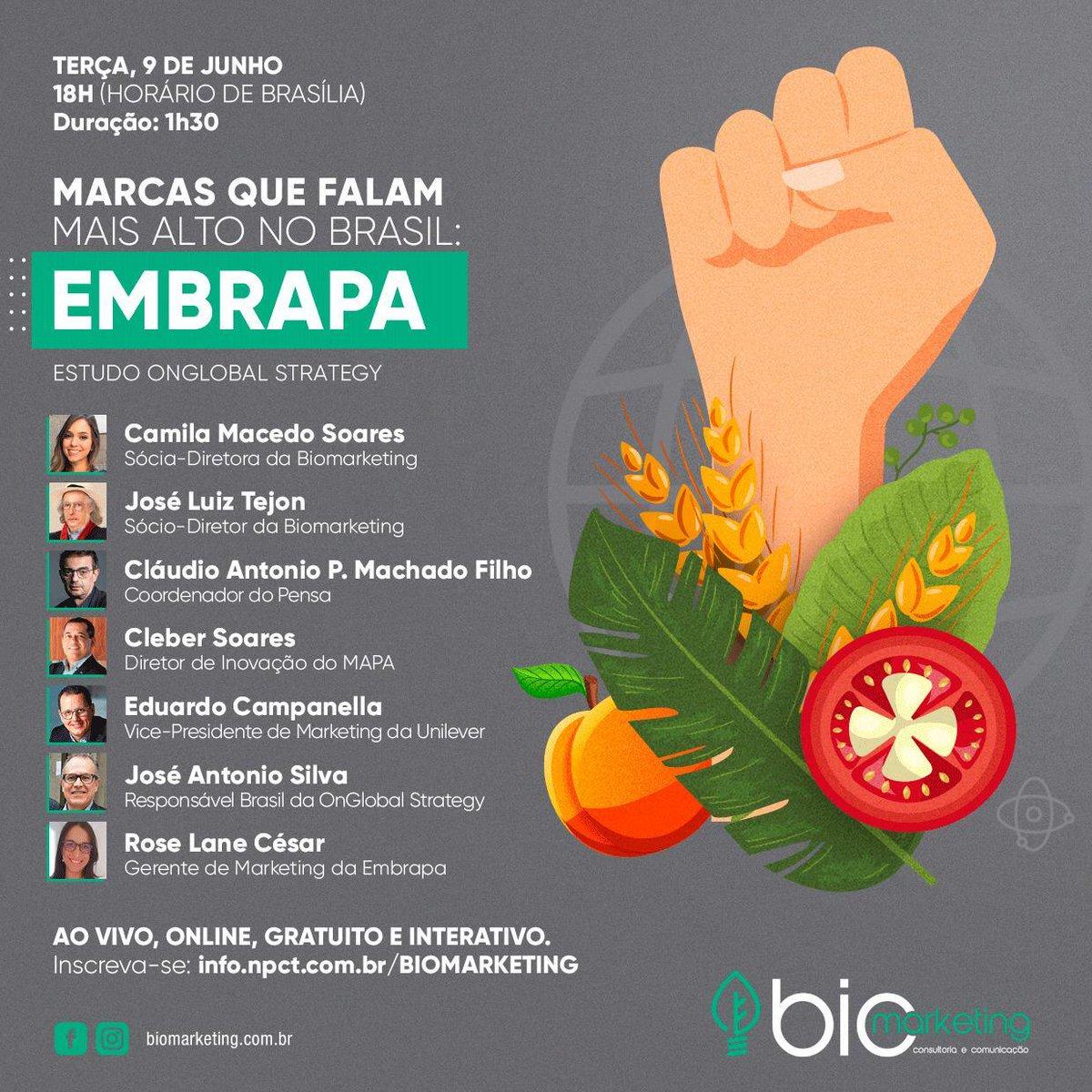 "Segundo estudo realizado pela OnGlobal Strategy, ""Embrapa"" é a marca mais consolidada no Agro brasileiro.   #embrapa #marca #marketing #imagem #agro #agricultura #agronegocio #credibilidade"
