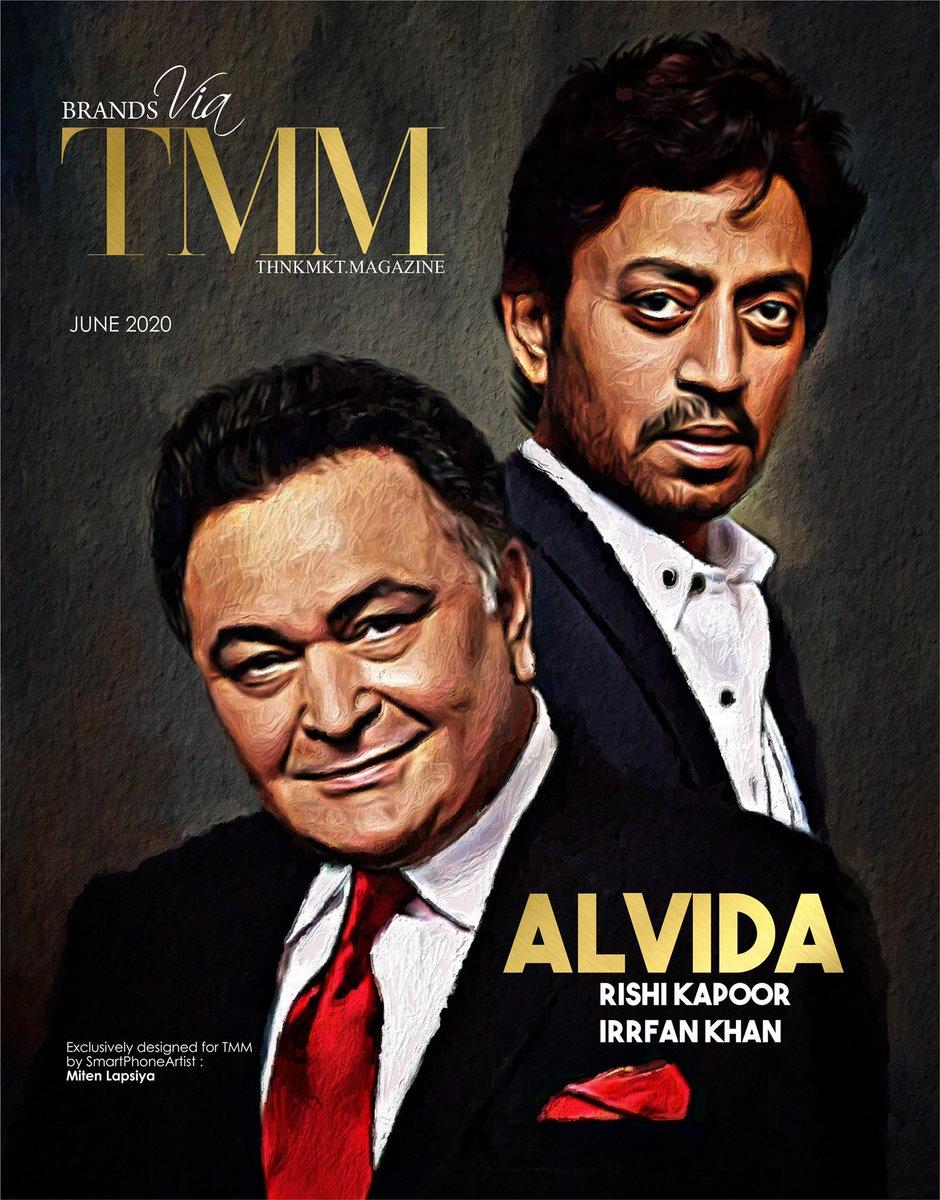 Our June cover @ThnkMktMagazine #RishiKapoor #irrfankhan #bollywood #bollywoodactors #legendspic.twitter.com/dOs3b0kAbJ