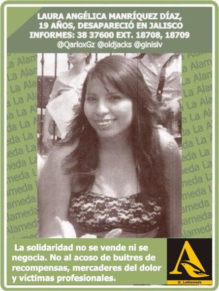 #Tebuscamos Laura Manríquez #Jalisco #911 #Guadalajara https://t.co/0OfH9McGAM