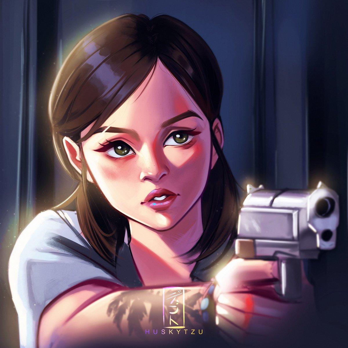 Ellie Fanart from the lastes State of Play demo ✨ #TheLastofUsPartII #ellie #videogames #fanart #badass #digitalart #ipadpro #illustration #fanart