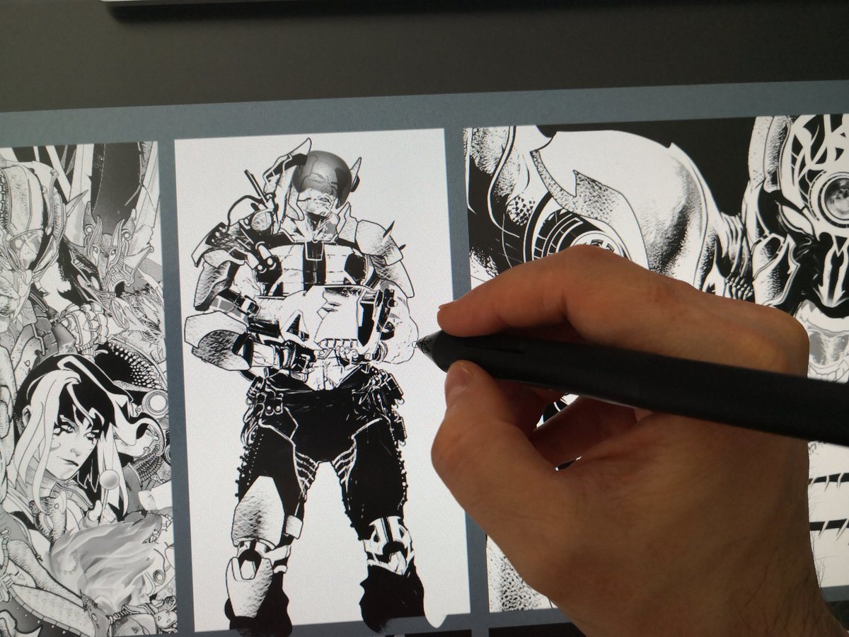 Scifi personal portfolio Update wip #comics #commission #artwork #scifi #metalarmor https://t.co/Bx7fT9EXSi