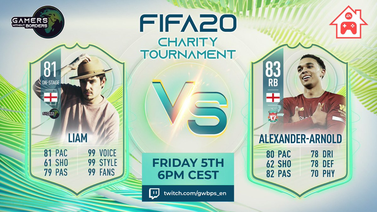 Excited to be a part of this incredible cause 🙏🏻 The prize pool for @GWBPS all goes to charities supporting COVID-19 relief 🌐 I'm taking on @trentaa98 in FIFA20 this Friday at 6pm CEST here - twitch.tv/gwbps_en #gwbps #ad