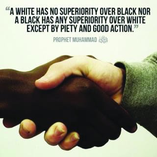 """@EricWolfson @realDonaldTrump #BLACK #LIVES #MATTER . #NO TO #RACISM. RESPECT #EQUALITY OF #HUMANS AND #HUMAN #RIGHTS. """"No #WHITE Over a #BLACK , No #BLACK Over a #WHITE has any #Supremacy , Superior / #Honorable is He Who is More #Piety """"  ( #Prophet #Muhammad's ( PBUH ) ."""