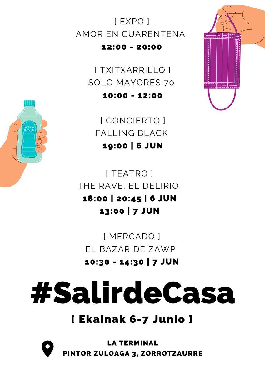 Este #sábado y #domingo 6 -7 de Junio hemos organizado un #txitxarrillo por la mañana para personas mayores de 70 años en #LaTerminal - Zorrotzaurre, dentro del  #SalirdeCasa Fest  ¿Nos ayudáis a #compartir este evento? @RadioNervion @ondavasca @BilbaoKultura @guiabilbao @20m
