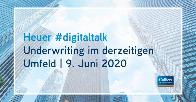 Am 9. Juni von 14:00 bis 15:00 Uhr geht der Heuer #digitaltalk in die nächste Runde. Unser Deutschland-CEO Matthias Leube diskutiert mit Richard Apfelbacher (L'Etoile Properties), Philip La Pierre (LaSalle) und Christoph Wittkop (Barrings). Jetzt anmelden: t.co/micYL10mp1