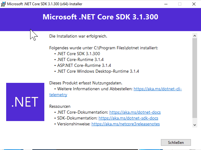 Why do I get a german installer for the .NET Core 3.1 SDK? I have installed Win10 en-US, have NO language pack installed. The only german I have on my PC is keyboard and locale settings for numbers and date formats. And office proofing pack I guess.  #dotnet #windows<br>http://pic.twitter.com/shZ0wUrOhx
