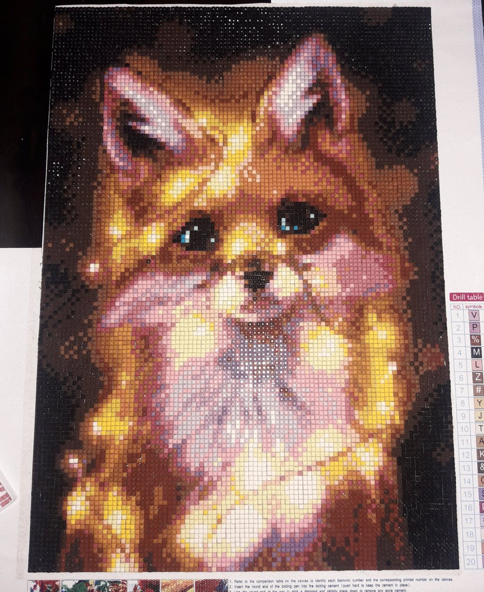 I just finished my 5th diamond painting  #diamondpainting pic.twitter.com/Y8UkUAZuq5