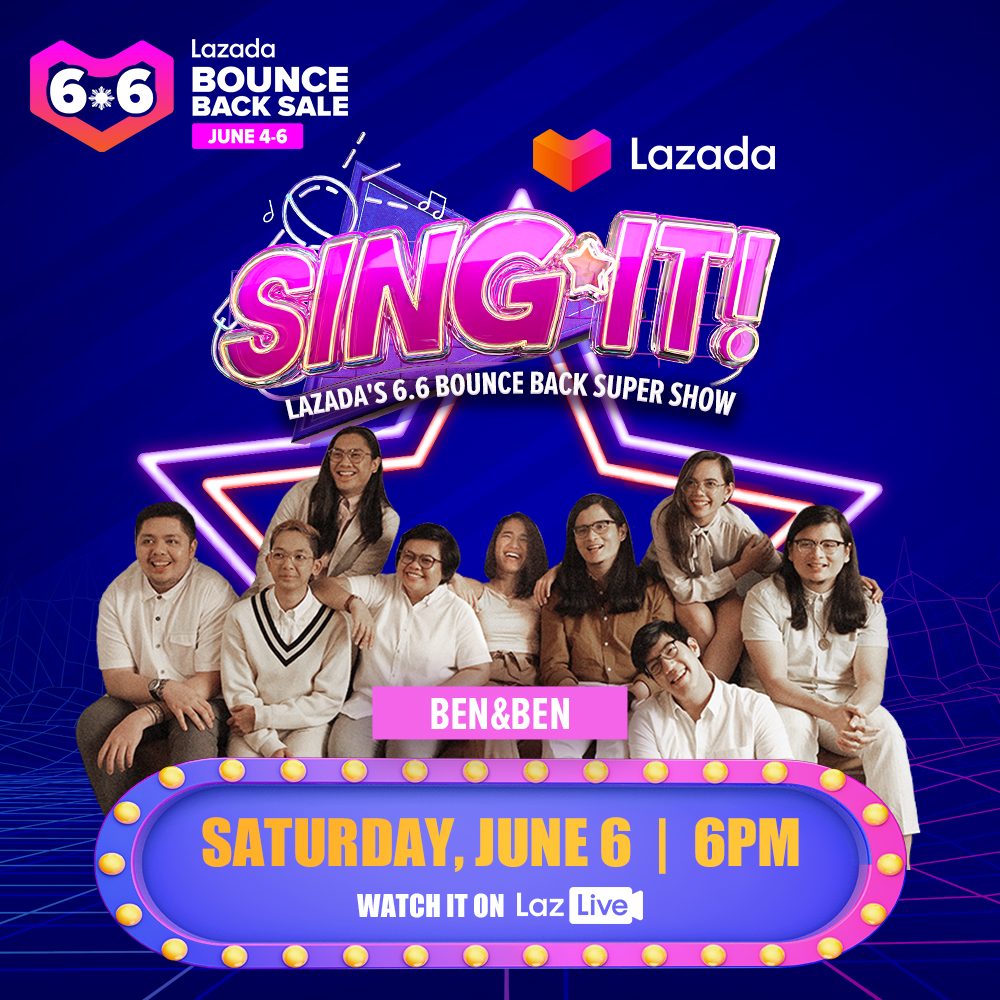 Catch @BenAndBenMusic on SING IT!, Lazadas 6.6 Bounce Back Super Show, on JUNE 6, 6PM. Well have 6 winners of ₱6K Lazada vouchers on Balloon Blast! Click lzd.co/LazadaSuperSin… to set your reminders. #BenandBenforLazadaSingIt #LazadaSingIt #LazBounceBack #LazadaPH66