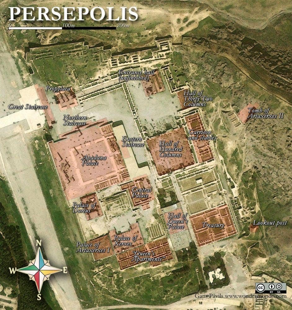 Digital Maps Of The Ancient World On Twitter A Map Of The Persian Capital Of Persepolis Ancientmaps Ancientpersia