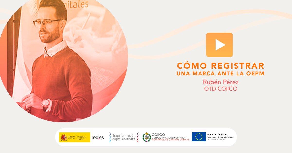 📢 No te pierdas el #webinar sobre #Registro de #Marca que impartirá Rubén Pérez | OTD COIICO esta tarde a las 17h (Canarias).  Inscríbete aquí ➡️     #TransformacionDigital #PropiedadIndustrial #PropiedadIntelectual #yomeformoencasa #otdcoiico