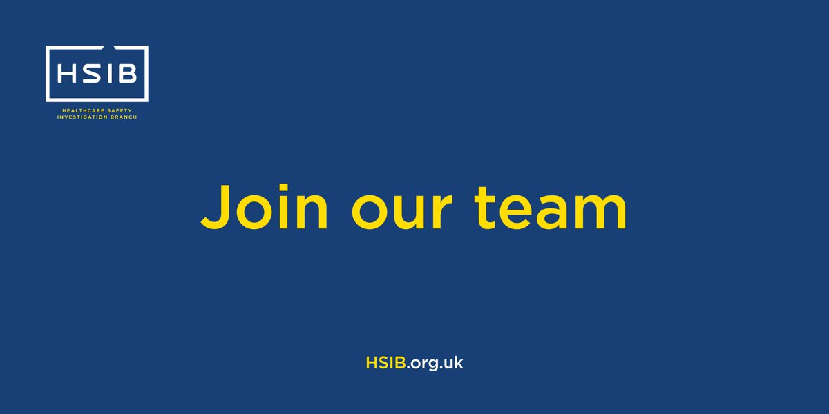 Are you a clinical consultant with a keen interest in #patientsafety, #humanfactors and healthcare #safetyinvestigations? Join us as a Clinical Advisor on a part-time basis to support our maternity investigation programme. Find out more and apply >> https://t.co/lsSD7fuQLJ https://t.co/HJ0M2wDKD4