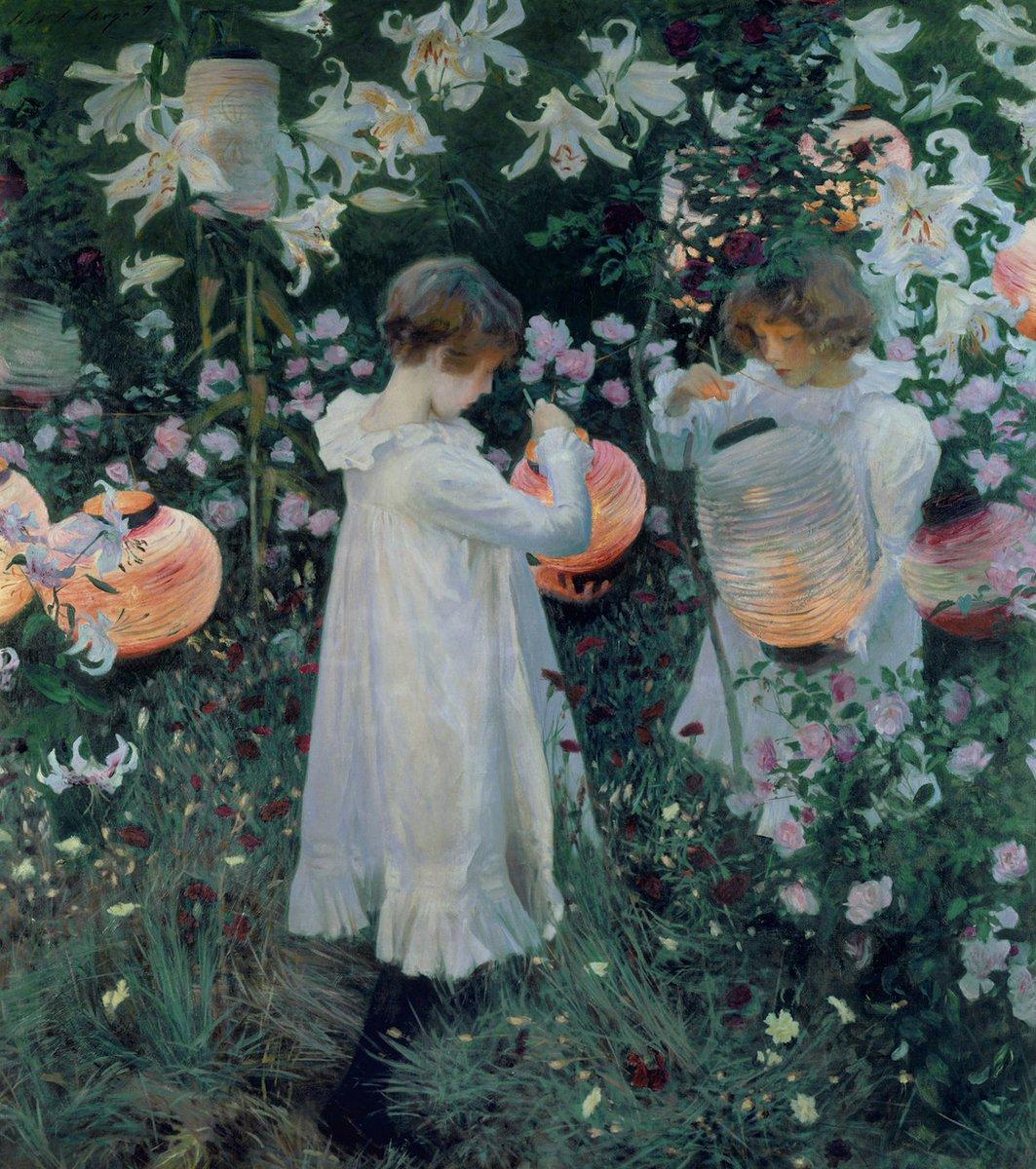 Let's dream of an endless summer. 🌼🌿  🖼: John Singer Sargent, 'Carnation, Lily, Lily, Rose', 1885-6.  #thursdayvibes #bozar https://t.co/gGJqxDtSCI