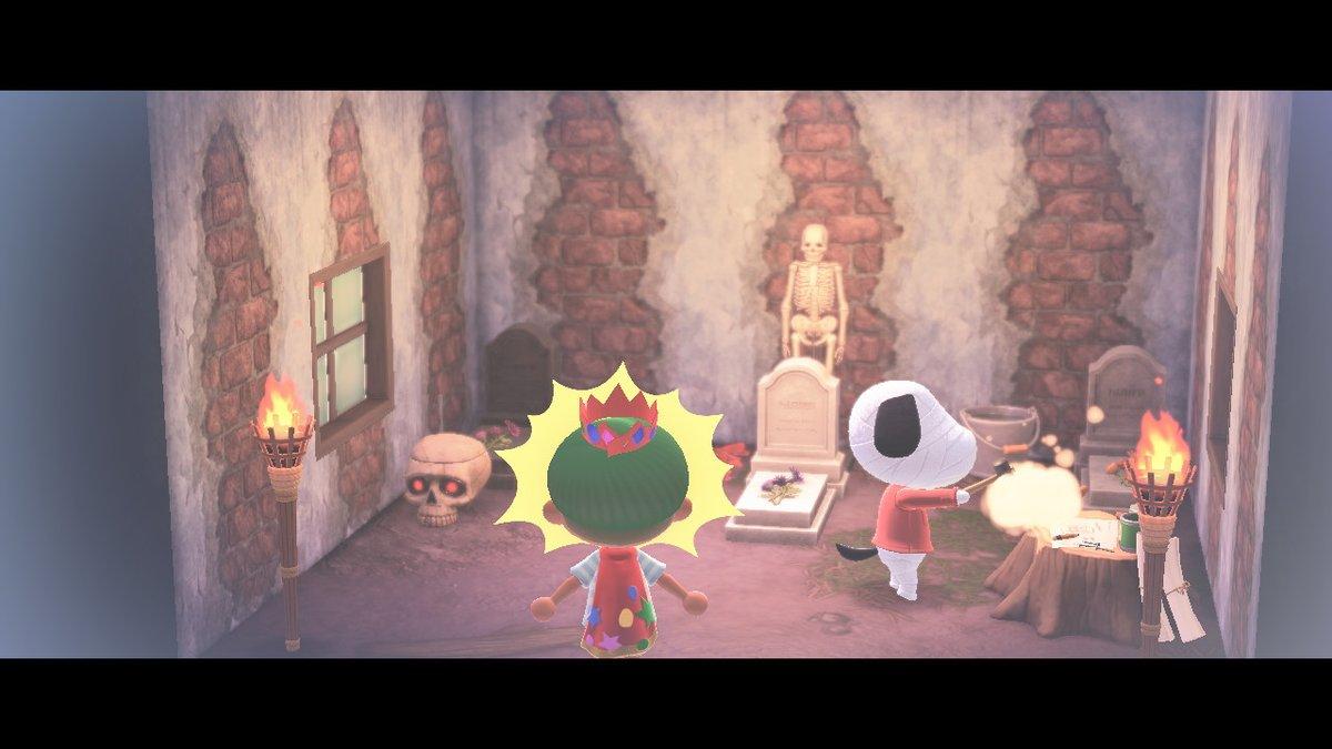 何かを潰してる!!! #どうぶつの森 #AnimalCrossing #ACNH #NintendoSwitch