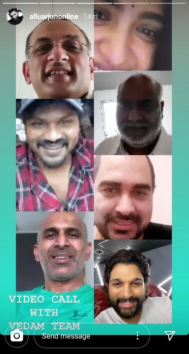 Video Call with Vedam Team - via #AlluArjun 's Instagram stories. #AnushkaShetty @alluarjun @DirKrish @HeroManoj1 @mmkeeravaani @Shobu_ #PrasadDevineni #Vedam  DECADE FOR VEDAM ❤️ https://t.co/JjfbV5kRxV