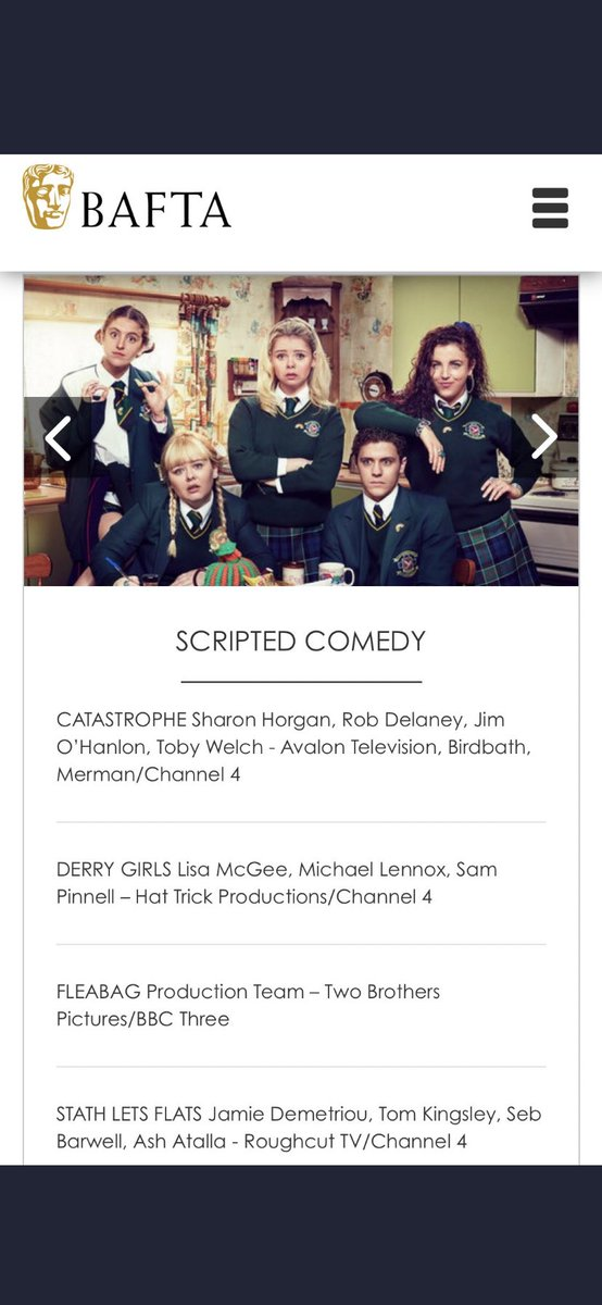 Thank You @BAFTA for our nomination. 💚