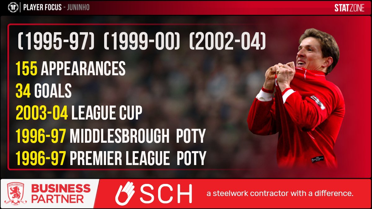 🔥 Juninho became a fan favourite at the Riverside Stadium after three spells with #Boro between 1995 and 2004.   The Brazilian was named Middlesbrough Player of the Year and @premierleague Player of the Year in 1997. 💪 #EFL @SCHSiteServices https://t.co/iduqipGusw