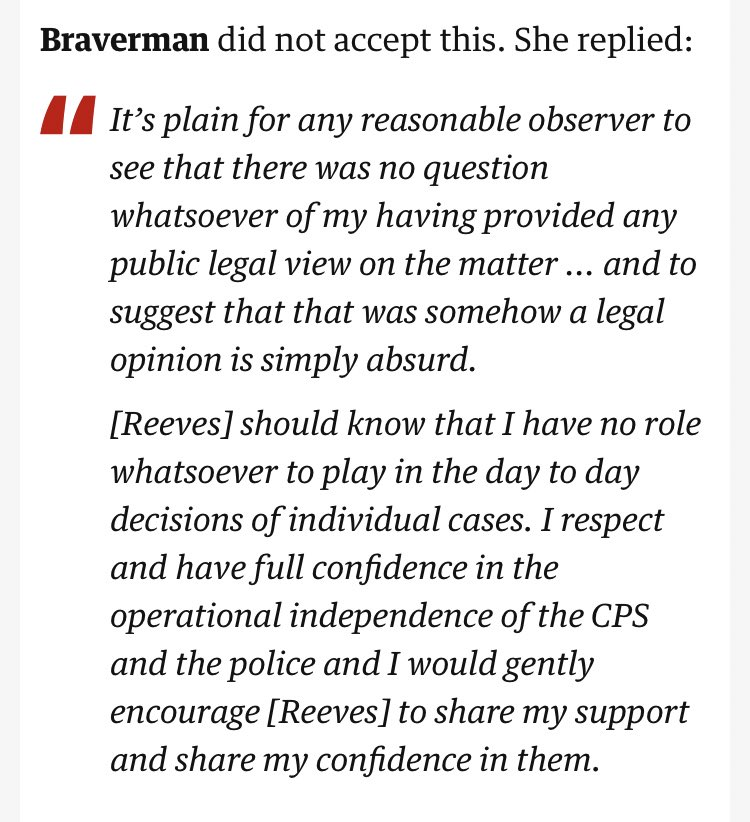 """TODAY: """"There was no question whatsoever of my having provided any public legal view on the matter""""  23 MAY: The AG approvingly retweets a statement from No.10 expressing belief that Cummings acted """"responsibly & legally"""", calling him """"a good parent"""".  I don't use """"liar"""" lightly. https://t.co/WlEhzKrdul"""