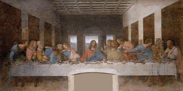 2. 'The Last Supper'  Artist: Leonardo da Vinci Estimated date: 1495 to 1498 Where to see it: Santa Maria delle Grazie (Milan, Italy) <br>http://pic.twitter.com/MmMjCC1741