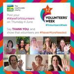 Image for the Tweet beginning: This #VolunteersWeek we're waving to