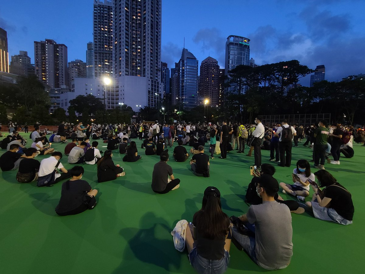 In #hk, the #june4 vigil goes on in its usual place.