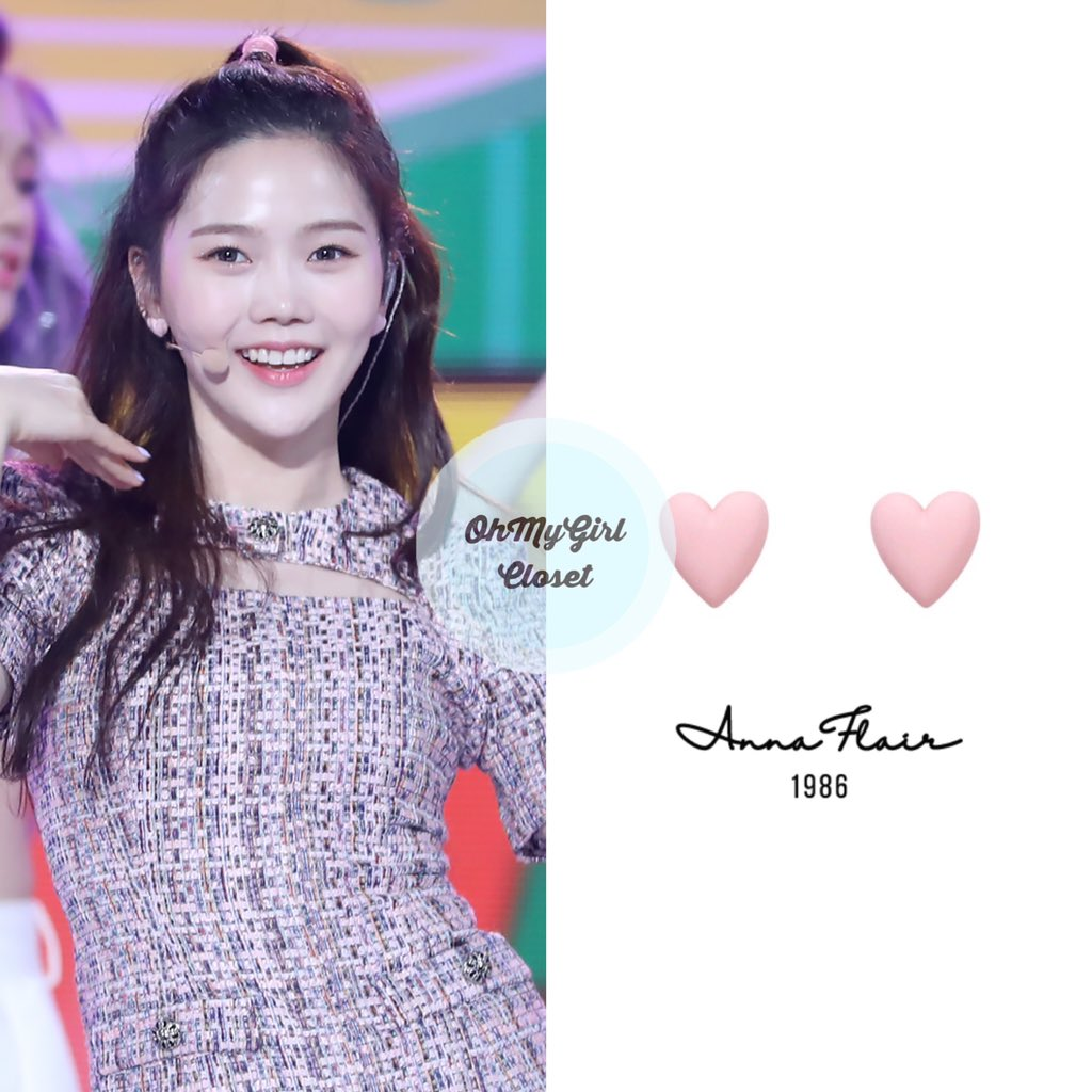 200509 #Hyojung - Music Core wearing  Anna flair - colorful heart earrings ₩18,000 #ohmygirl_annaflair #omgc_hyojung  #OHMYGIRL #NONSTOP #효정 #오마이걸 #살짝설렜어 #ohmygirlfashion #ohmygirlstyle #ohmygirlcloset #퀸덤 #Queendom pic.twitter.com/NCQWyuxtvO