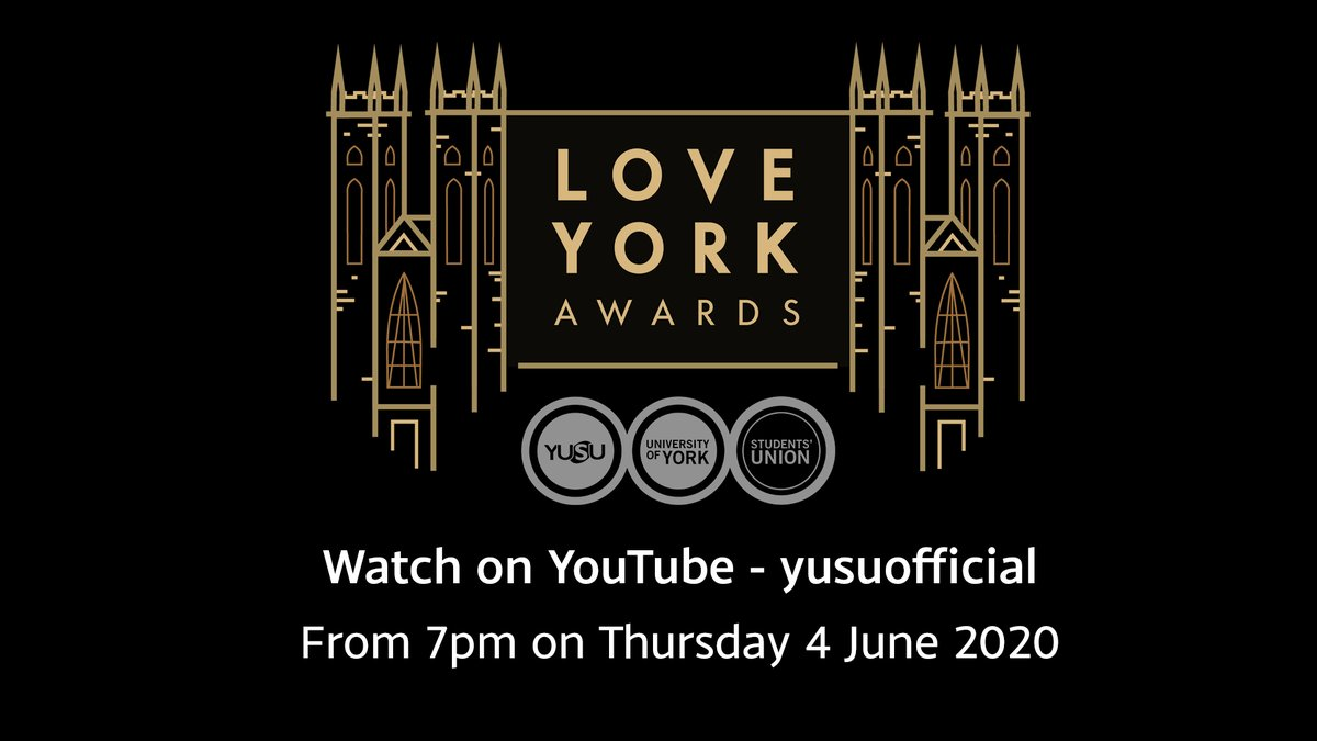 Recognise and celebrate the achievements of out students tonight at the @yorkunisu Love York Awards digital event. Watch the excitement via the livestream from 7pm: https://t.co/0GK4oZsrsq #LYA2020 https://t.co/Bny5hBMDPQ