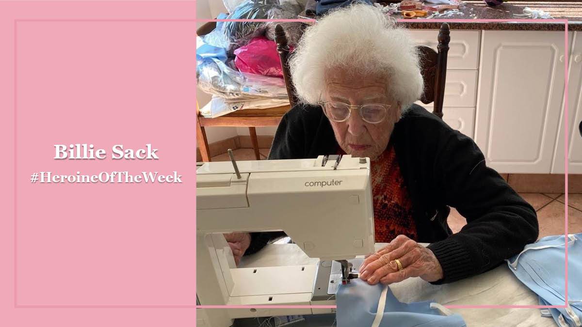 Billie Sack shows that age is but a number. This energetic & enterprising 95-year-old is keeping her hands & heart busy, making masks for friends & family. She's our #HeroineOfTheWeek. Nominate a woman in your life who has inspired you during lockdown & she could be featured next https://t.co/hvo7zelJ8s