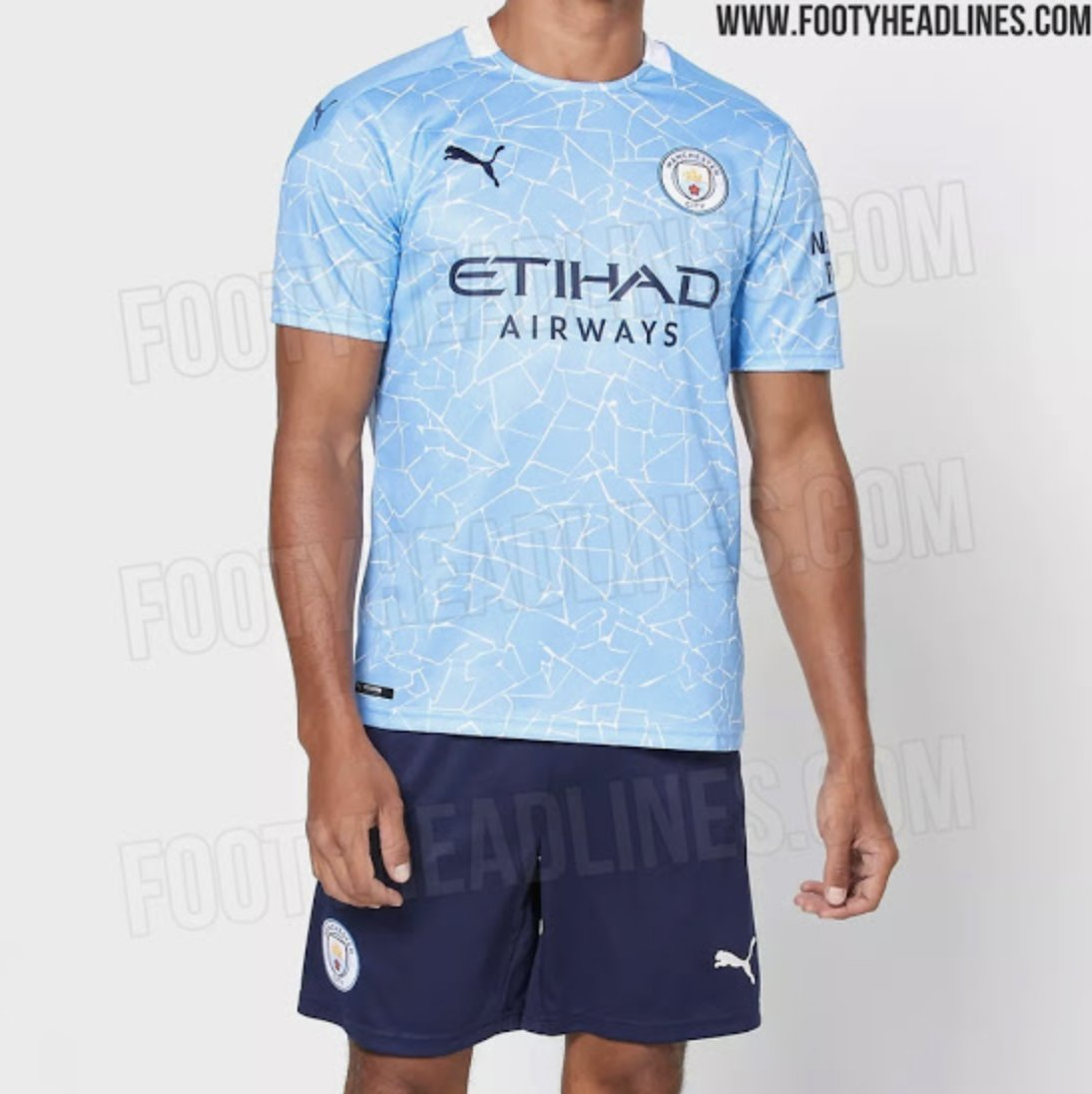 LEAKED: The shorts to accompany the new 2020/21 #ManCity home shirt are navy.  [via @Footy_Headlines]pic.twitter.com/8J55ONHW1Z