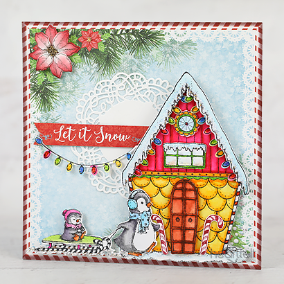 Have you started on your #christmas #cards yet? Tracy McLennon has and isn't it gorgeous?  #heartfeltcreations #cardmaking #papercrafts