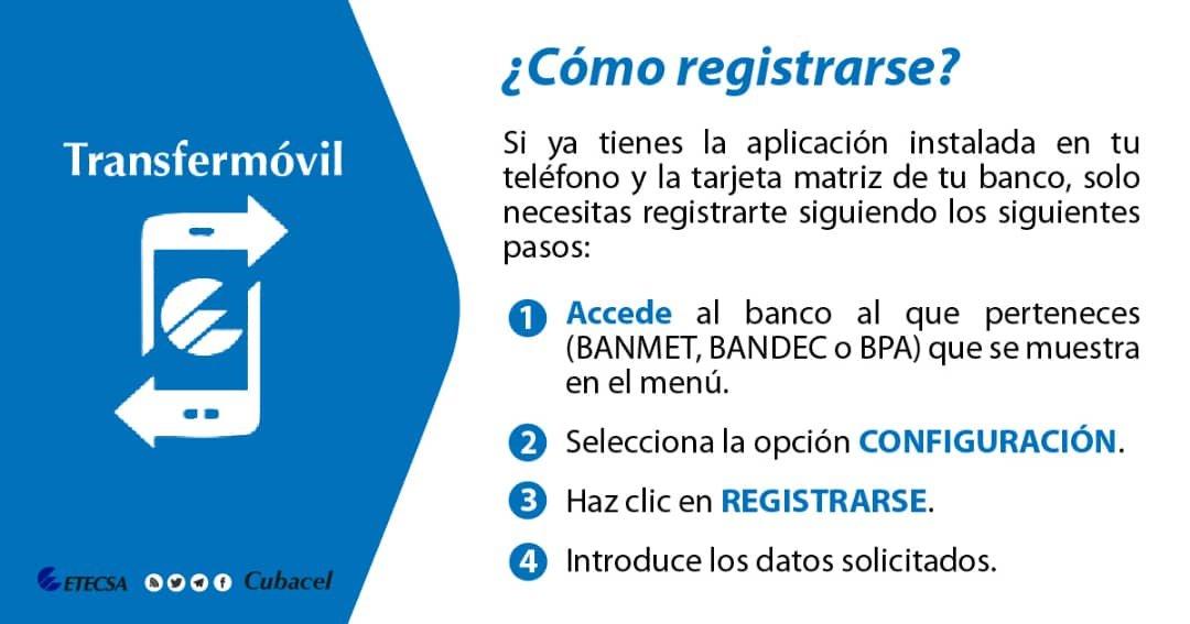 Regístrate en #Transfermóvil 👉 Descárgala #AHORA en  o en   #ConSolo1Toque #MásFácilYSegura #CubaInformatiza #VamosPorMás