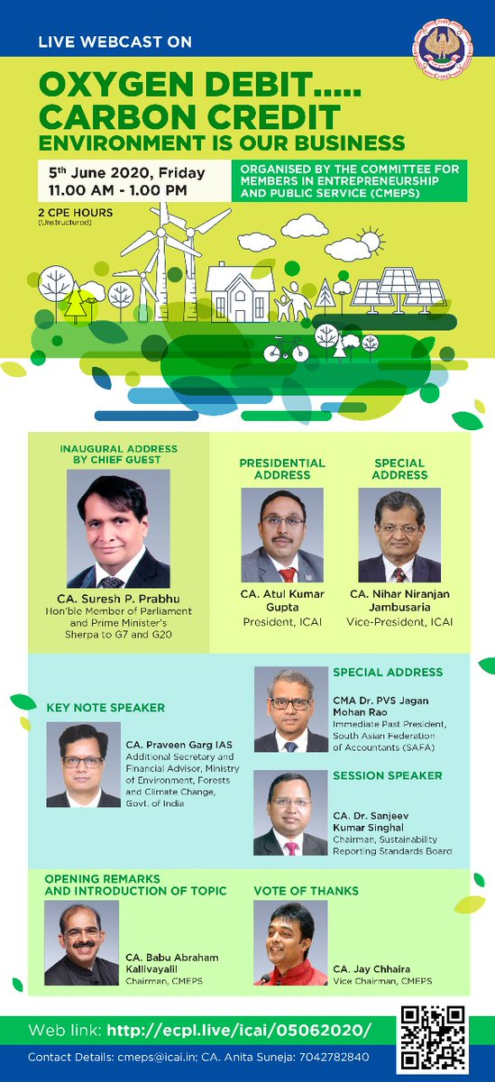 Celebration of #WorldEnviorenmentDay is futile if we don't take concrete action to save our only planet that we have,which doesn't belong to us alone but must be saved for posterity too,Will be happy to speak on this important day