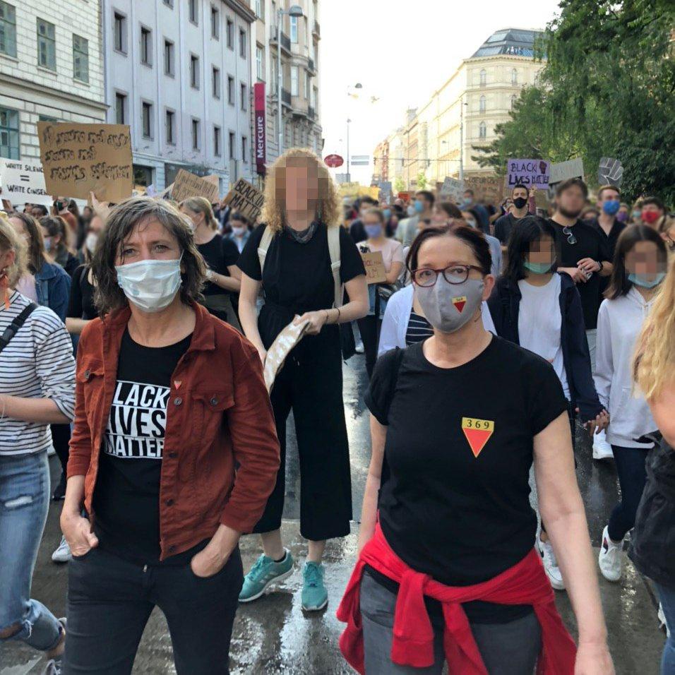 """Birgit Hebein on Twitter: """"Wien hält zusammen. #BlackLivesMatter… """""""