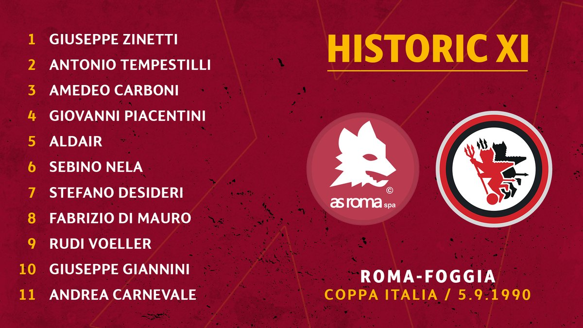 📋 | The team the day Aldair made his debut... We take a closer look at the #ASRoma starting XI from that day 🔍 Read ➡️ on.asroma.com/304RZk5