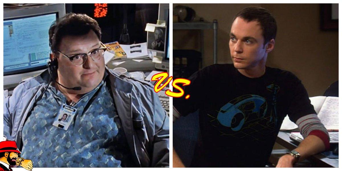Who would win? Dennis Nedry vs Sheldon Cooper? #celebrityfight #celebrity #versus #sheldoncooper #bigbangtheory #dennisnedry #nerdfight