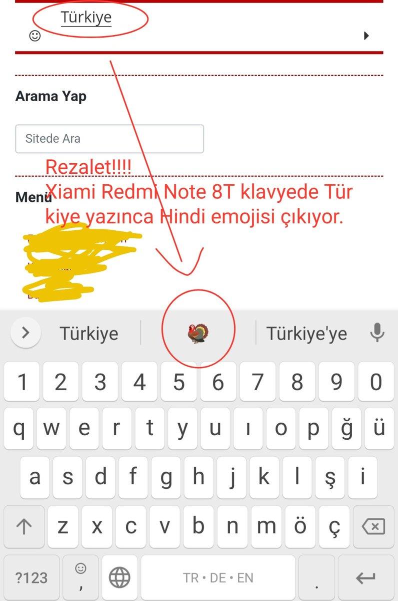 Rezalet bakın!!! #XiaomiRedmi telefon klavyesinde Türkiye yazıldığında Hindi emojisi çıkıyor. Xiaomi'yi Boykot ediyoruz!!!! #MeclisteTeröristİstemiyoruz https://t.co/L58mWvf6Wu