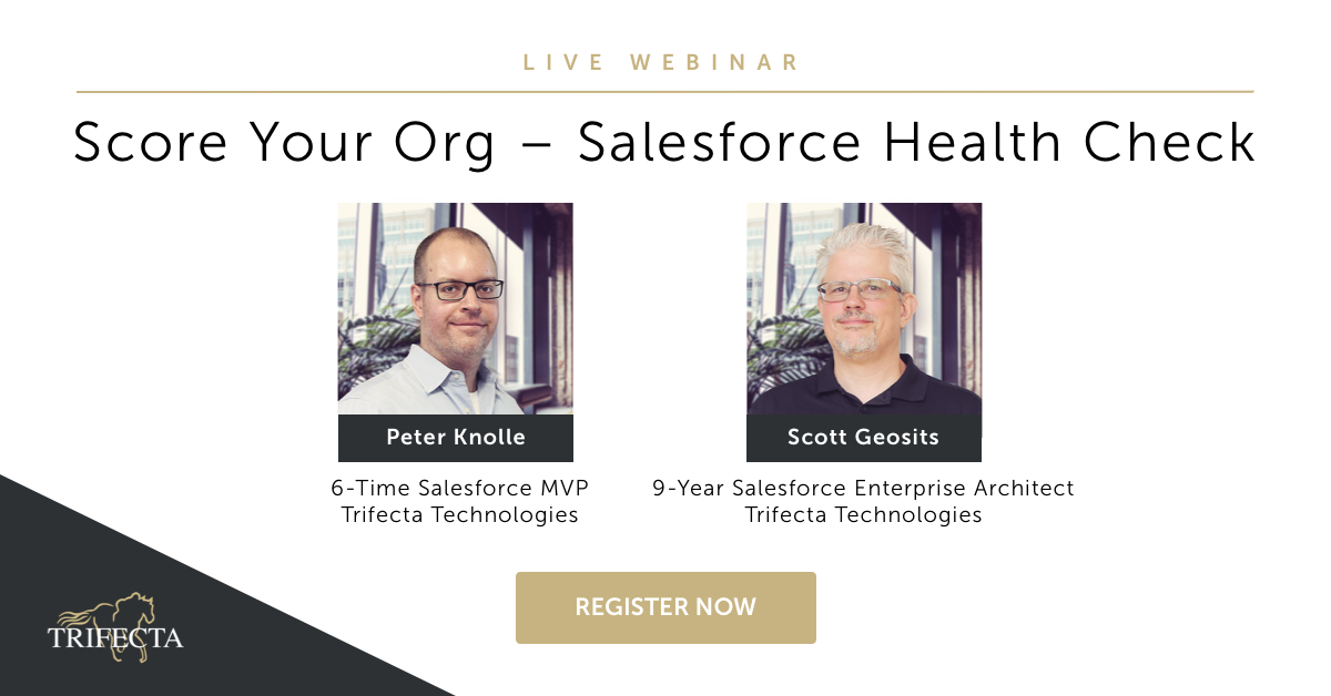 Join @Salesforce experts Peter Knolle & Scott Geosits to learn how to optimize your #salesforce platform and immediately put best practices into action. Register for the #webinar: https://t.co/kxV20m7Isl https://t.co/oHjfx3kL6U