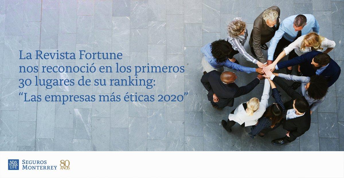 """Agradecemos a @fortunemexico por considerarnos entre los 30 primeros lugares del ranking """"Las empresas más éticas 2020"""".  Para nosotros, actuar en todo sentido con nuestros valores, nos ayuda a mostrar que desde hace 80 años #NosMueveElAmor.  Conoce más: https://t.co/kZXBKEXvNH https://t.co/HHHBDJI2wM"""