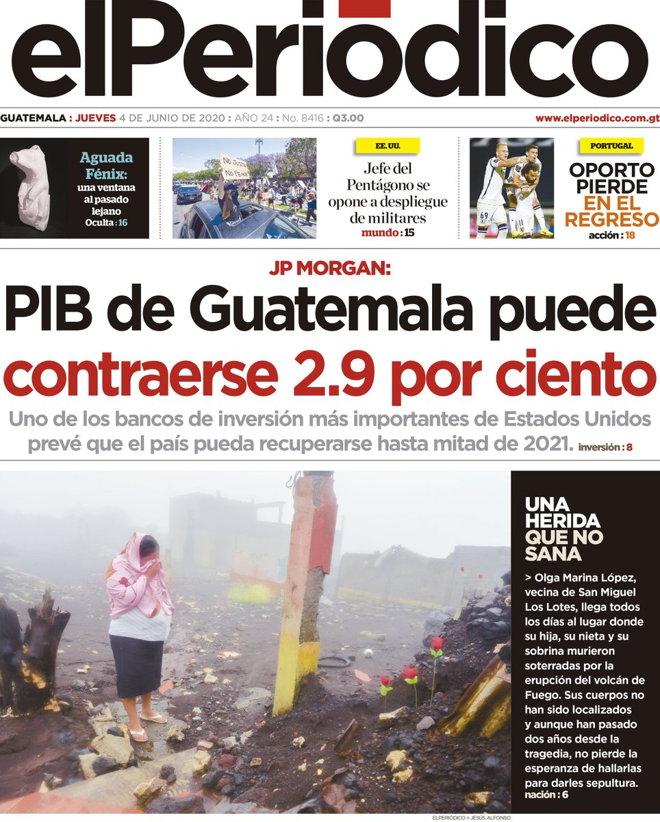 [La portada del día] Para leer elPeriódico de hoy ingresa acá: bit.ly/2qIYgkr